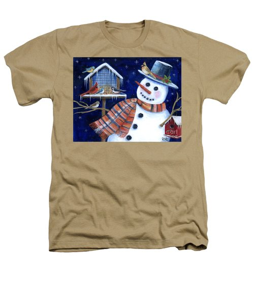 Winter Birds Delight Heathers T-Shirt