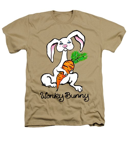 Wonky Bunny Carrot Heathers T-Shirt by Katherine Nutt