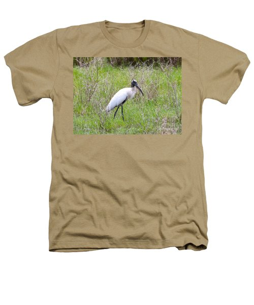 Wood Stork In The Marsh Heathers T-Shirt by Carol Groenen