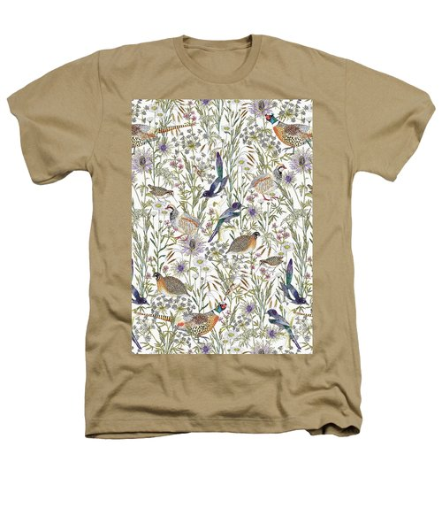 Woodland Edge Birds Heathers T-Shirt