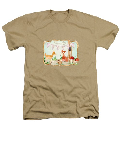 Woodland Fairytale - Banner Sweet Little Baby Heathers T-Shirt by Audrey Jeanne Roberts