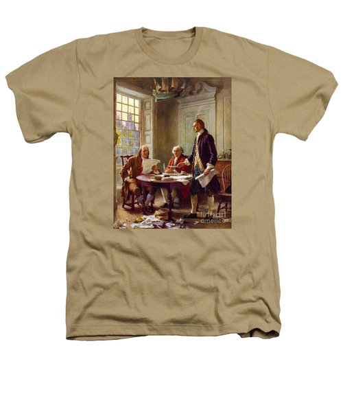 Writing The Declaration Of Independence, 1776, Heathers T-Shirt by Leon Gerome Ferris