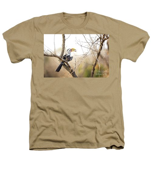 Yellow-billed Hornbill Sitting In A Tree.  Heathers T-Shirt by Jane Rix