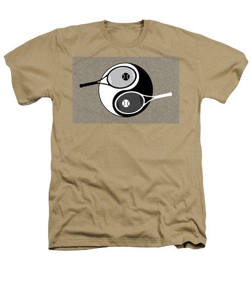 Yin Yang Tennis Heathers T-Shirt by Carlos Vieira