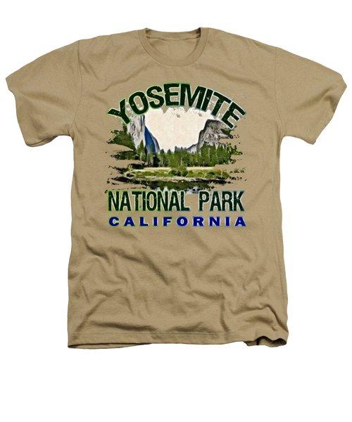 Yosemite National Park Heathers T-Shirt by David G Paul