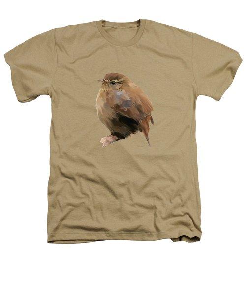 Young Female Blackbird - Turdus Merula Heathers T-Shirt