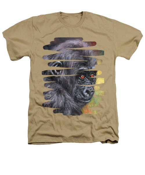 Young Gorilla Portrait Heathers T-Shirt
