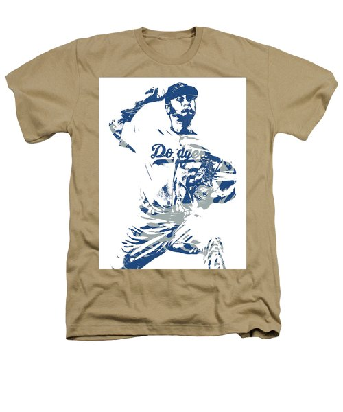 Yu Darvish Los Angeles Dodgers Pixel Art 5 Heathers T-Shirt