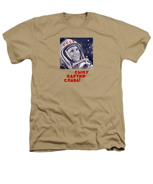 Yuri Gagarin - Soviet Space Propaganda Heathers T-Shirt by War Is Hell Store