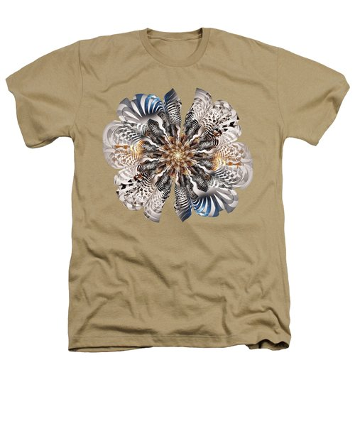 Zebra Flower Heathers T-Shirt
