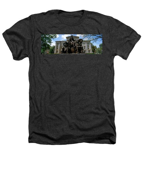 Low Angle View Of Statue Heathers T-Shirt by Panoramic Images
