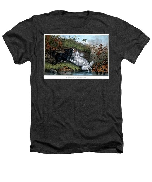 1860s Two Spaniel Dogs Flushing Heathers T-Shirt