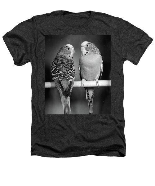 1960s Pair Of Parakeets Perched Heathers T-Shirt