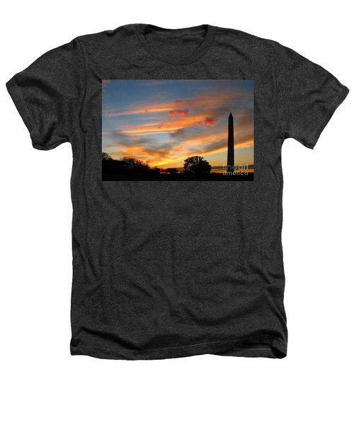 Evening Washington Monument Heathers T-Shirt