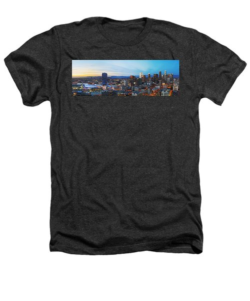 Los Angeles Skyline Heathers T-Shirt by Kelley King