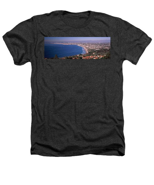 Aerial View Of A City At Coast, Santa Heathers T-Shirt by Panoramic Images