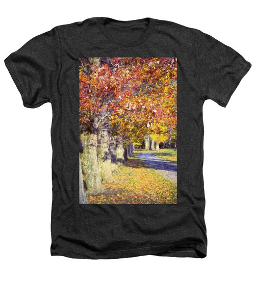 Autumn In Hyde Park Heathers T-Shirt by Joan Carroll