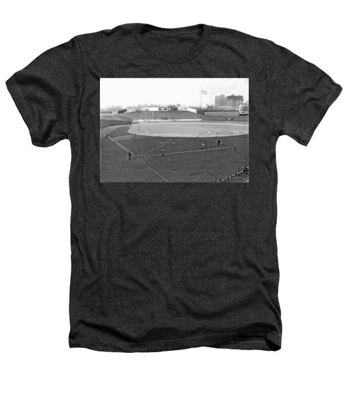 Baseball At Yankee Stadium Heathers T-Shirt by Underwood Archives