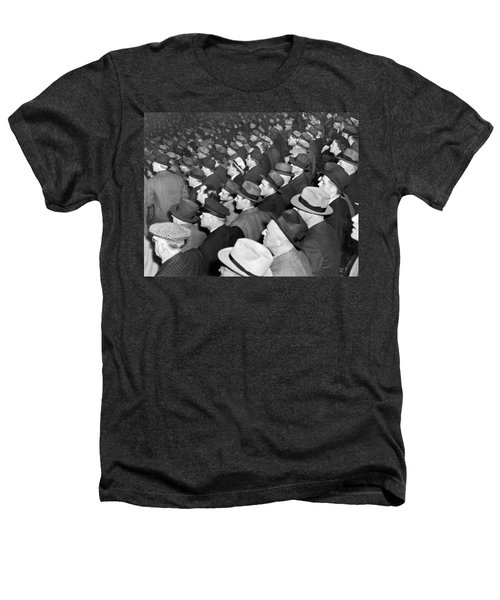 Baseball Fans At Yankee Stadium For The Third Game Of The World Heathers T-Shirt by Underwood Archives