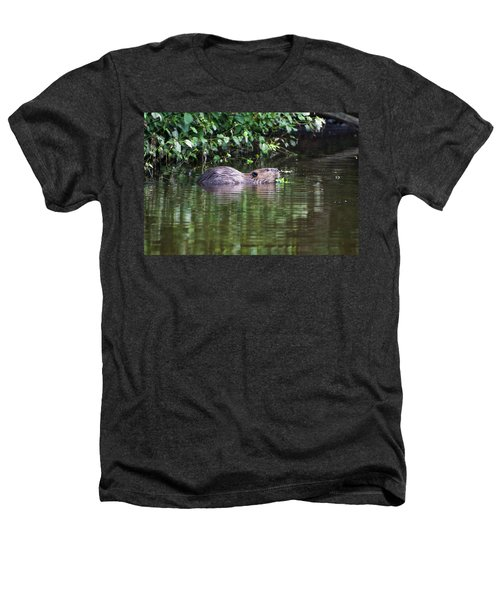 beaver swims in NC lake Heathers T-Shirt by Chris Flees
