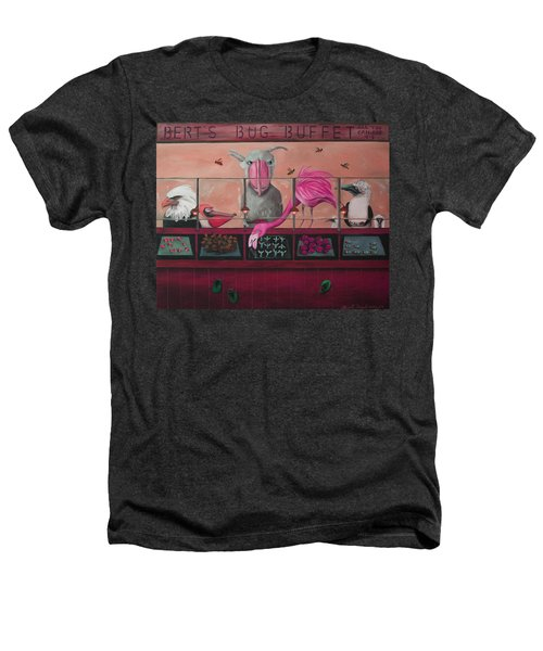 Bert's Bug Buffet Edit 2 Heathers T-Shirt by Leah Saulnier The Painting Maniac