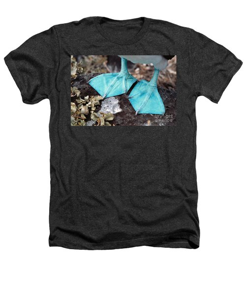 Blue-footed Booby Feet Heathers T-Shirt by Ron Sanford