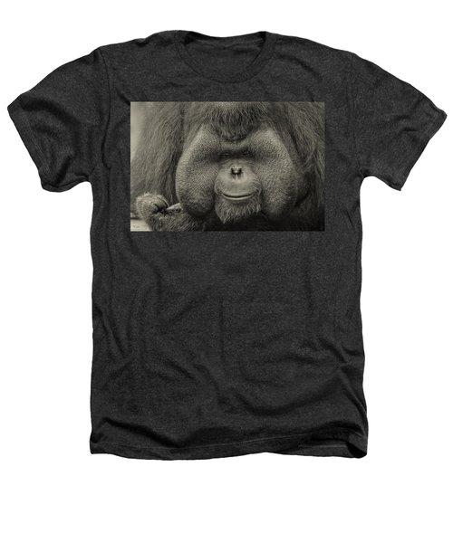 Bornean Orangutan II Heathers T-Shirt by Lourry Legarde