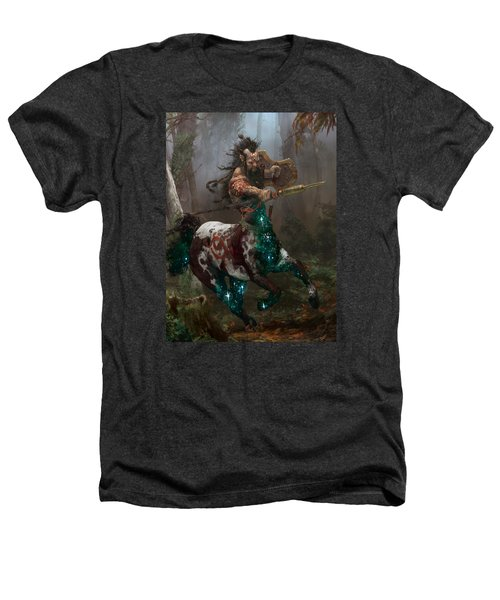 Centaur Token Heathers T-Shirt by Ryan Barger