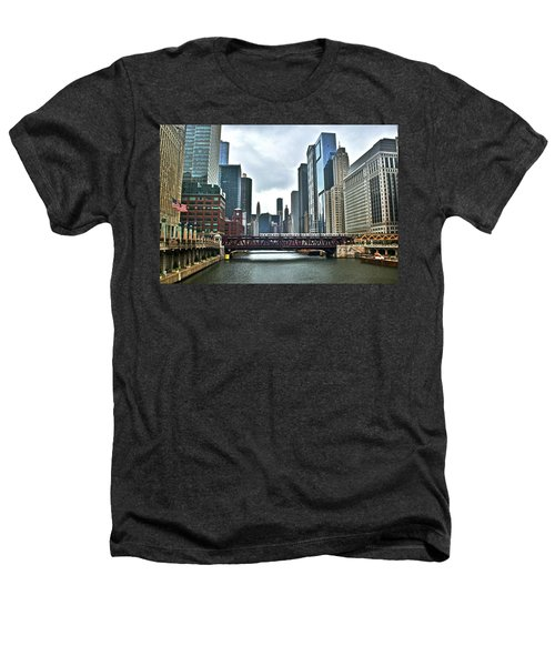 Chicago River And City Heathers T-Shirt