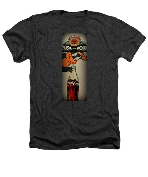 Coca Cola Orioles Sign Heathers T-Shirt by Stephen Stookey