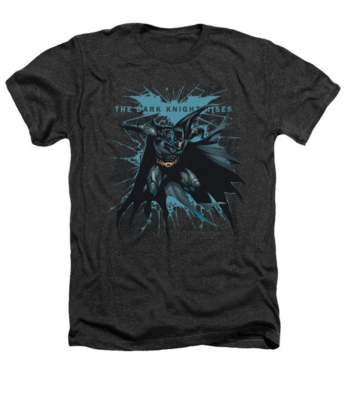 Dark Knight Rises - Blue Crackle Heathers T-Shirt