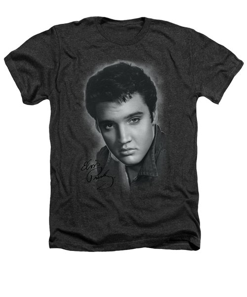 Elvis - Grey Portrait Heathers T-Shirt