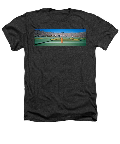 Football Game, University Of Michigan Heathers T-Shirt by Panoramic Images