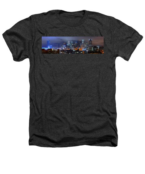 Gotham City - Los Angeles Skyline Downtown At Night Heathers T-Shirt by Jon Holiday