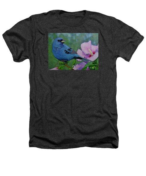 Indigo Bunting No 1 Heathers T-Shirt by Ken Everett