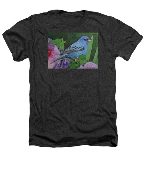 Indigo Bunting No 2 Heathers T-Shirt by Ken Everett