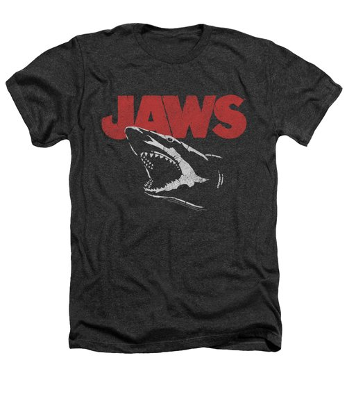 Jaws - Cracked Jaw Heathers T-Shirt by Brand A
