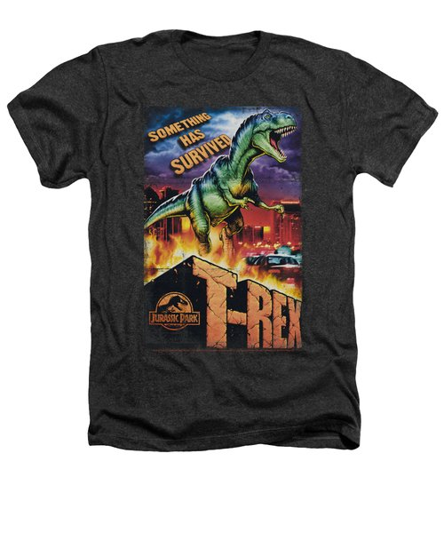 Jurassic Park - Rex In The City Heathers T-Shirt