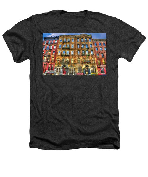 Led Zeppelin Physical Graffiti Building In Color Heathers T-Shirt