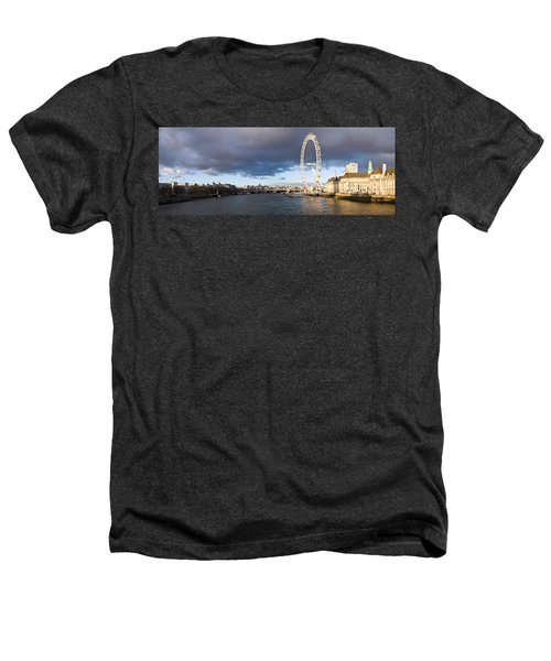 London Eye At South Bank, Thames River Heathers T-Shirt by Panoramic Images