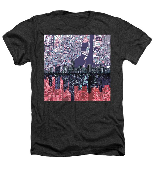 Miami Skyline Abstract Heathers T-Shirt