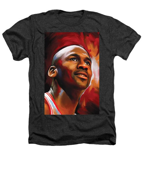 Michael Jordan Artwork 2 Heathers T-Shirt