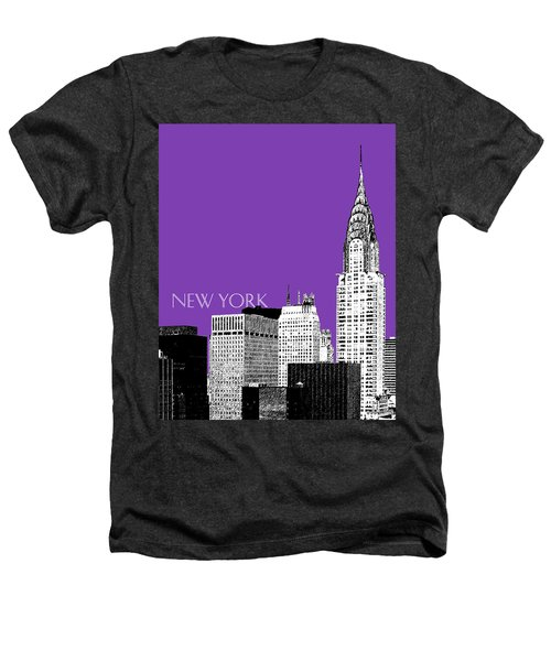 New York Skyline Chrysler Building - Purple Heathers T-Shirt