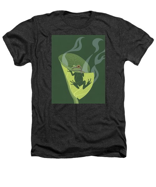 Pacific Tree Frog In Skunk Cabbage Heathers T-Shirt by Nathan Marcy