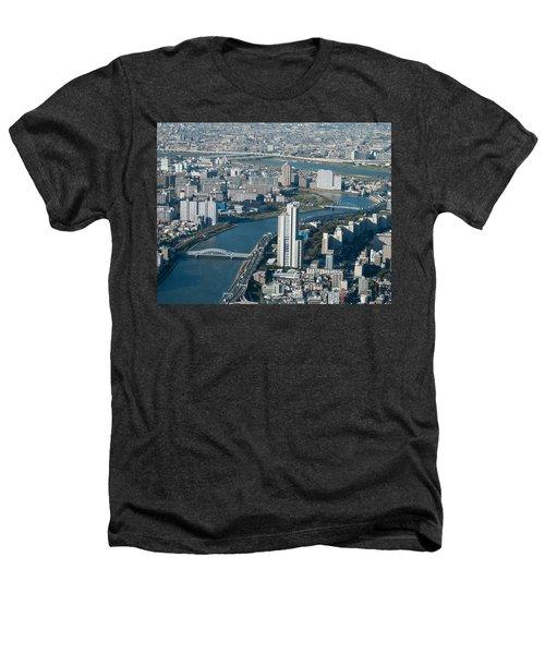 Panorama Of Tokyo Heathers T-Shirt by Jill Mitchell