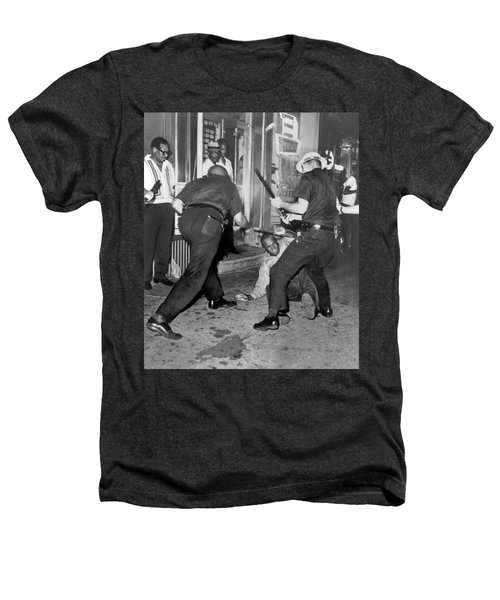 Protester Clubbed In Harlem Heathers T-Shirt by Underwood Archives