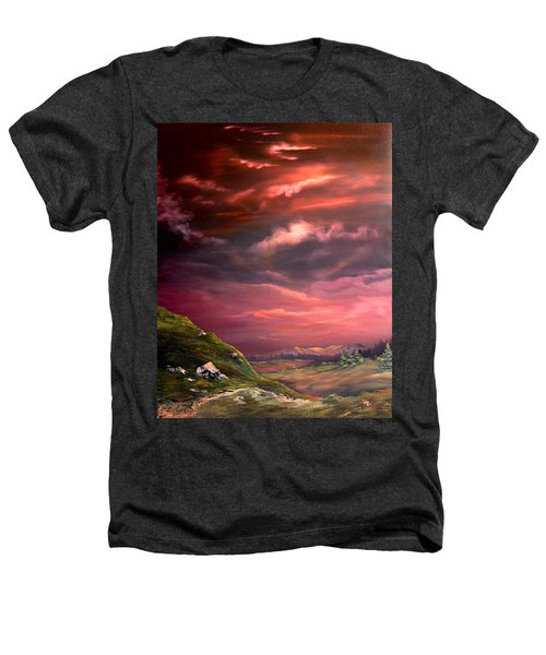 Red Sky At Night Heathers T-Shirt by Jean Walker