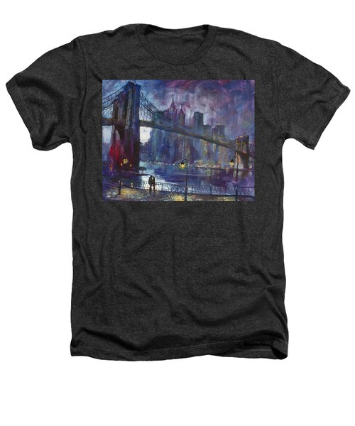 Romance By East River Nyc Heathers T-Shirt by Ylli Haruni