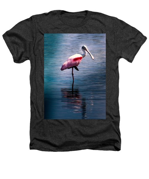 Roseate Spoonbill Heathers T-Shirt by Karen Wiles