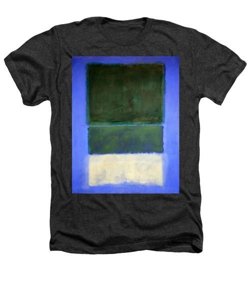Rothko's No. 14 -- White And Greens In Blue Heathers T-Shirt